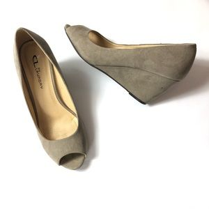 """CL By Laundry """"Nolita"""" Peep Toe Wedge   Size: 7.5"""
